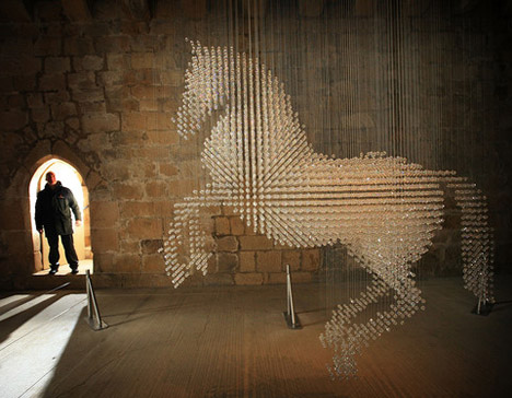Lucky Spot: The Swarovski's Horse :  horse mccartney art crystal