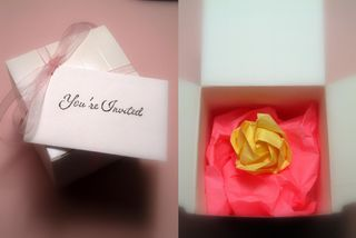Friendship origami invite
