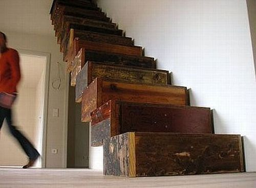 Salvaged-staircase