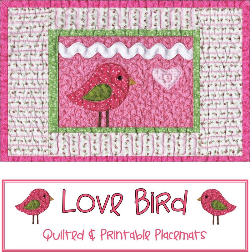 Valentine placemat cover page