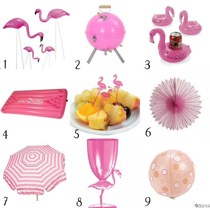 Retro Vintage Flamingo Pool Party