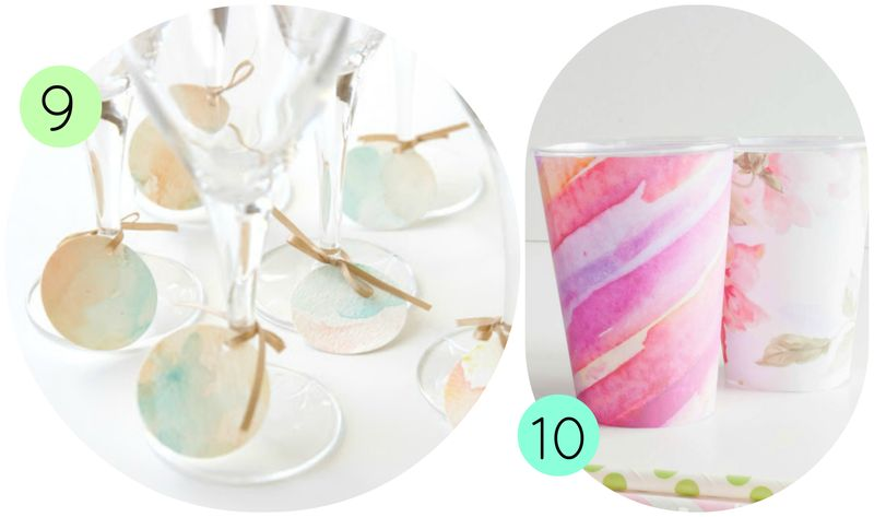 Watercolor Party Ideas 5