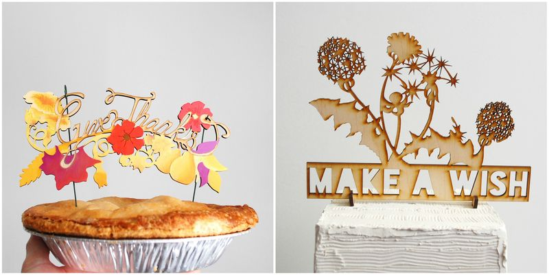 Handmade Cake Toppers by Madeline Trait. (2)