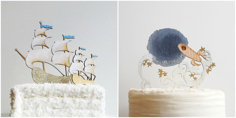 Handmade Cake Toppers by Madeline Trait. (3)