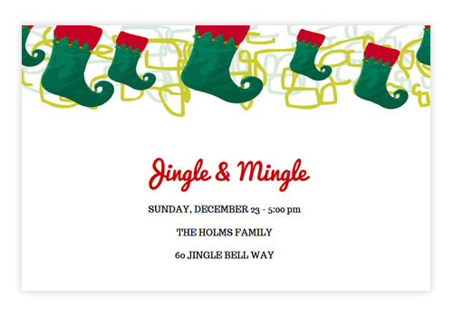 Online Holiday Invitations Create My Event