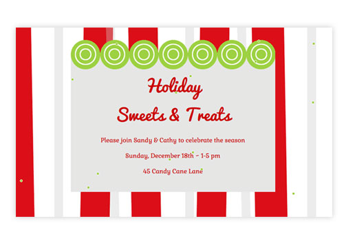 Online Holiday Invitations Create My Event – Dessert Party Invitations
