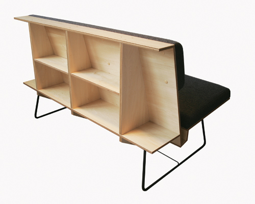 n.o.l. magazine rack bench