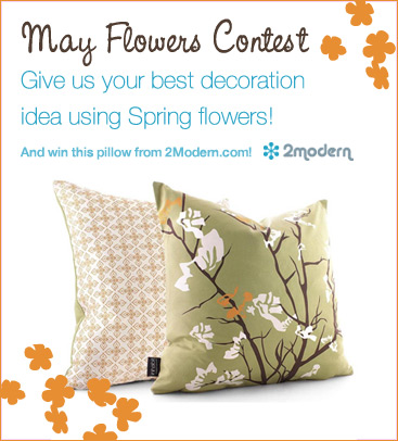 Spring Flowers Contest – Win a Spring Modern Pillow!