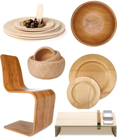 2 the second one that also appears in the third picture is the spring chair by anthony marschak 3 veneerware plates and cutlery from branch 4 bamboo becca stool bamboo furniture modern bamboo